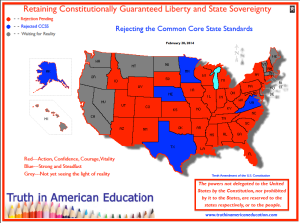 Map of State Adoption of Common Core Assessments 2014
